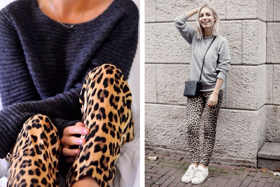 Outfit leopard broek